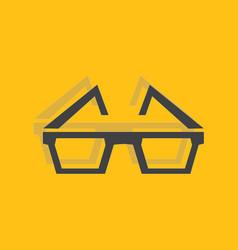 3d glasses icon vector
