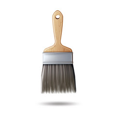 3d paint brush for acrylic oil paints vector image