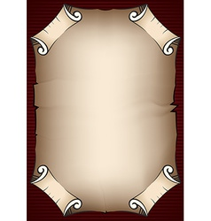 Aged parchment scroll vector