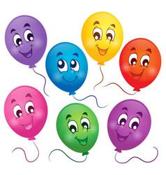 balloons theme image 4 vector image