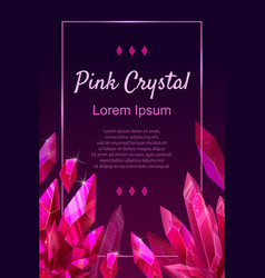 Beautiful jewel ruby banner great design for any vector