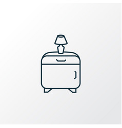 bedside table icon line symbol premium quality vector image