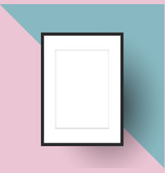Blank picture frame on two tone background vector
