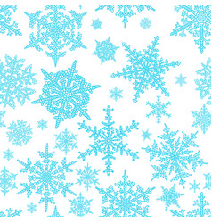blue snowflakes seamless pattern holiday vector image