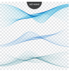 blue wave set abstract background wave vector image