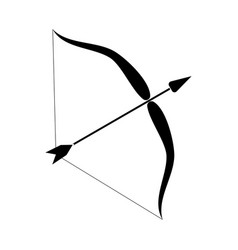 bow and arrow vector image