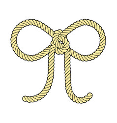 Bow rope vector