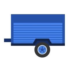 Car trailer vector