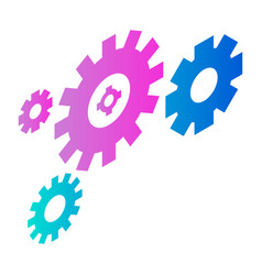 Chain wheel icon isometric style vector