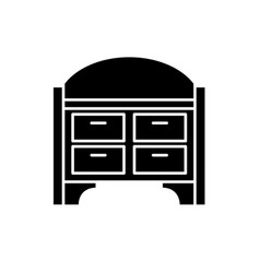 chest of drawers black icon sign on vector image