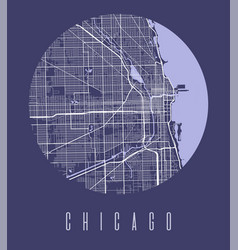 Chicago map poster decorative design street map vector