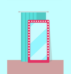 clothing store changing room vector image