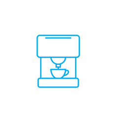 coffee machine linear icon concept coffee machine vector image