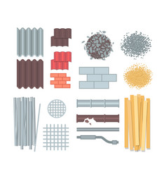 Construction materials - set of modern vector