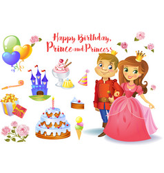 Cute birthday design elements vector