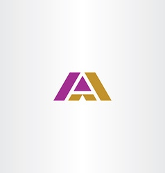 dark yellow and purple letter a logo icon vector image
