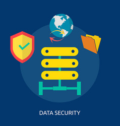 data security conceptual design vector image