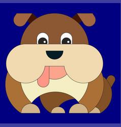 dog in cartoon flat style vector image