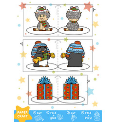 education christmas paper crafts for children vector image