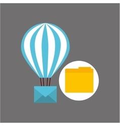 Email balloon folder file design vector