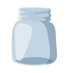 Empty glass bank blank jar classic home dishes vector