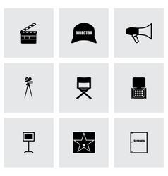 Filming icon set vector