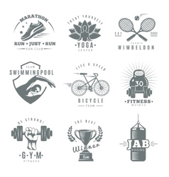 Fitness Gym Label Set vector