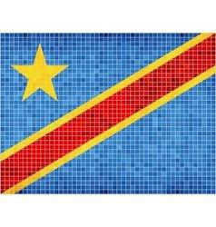 Flag of the Democratic Republic of the Congo vector