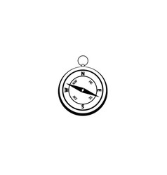 graphic drawing compass object at the center vector image