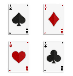 Grunge poker card vector