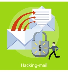 Hacking and e-mail spam vector image