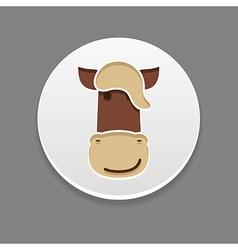 Horse icon Farm animal vector image
