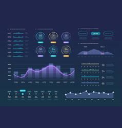 infographic dashboard template modern statistics vector image