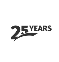 Isolated abstract black 25th anniversary logo on vector