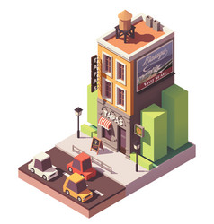 isometric tapas restaurant vector image