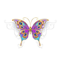 jewelry butterfly peacock vector image