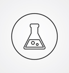 Laboratory outline symbol dark on white background vector