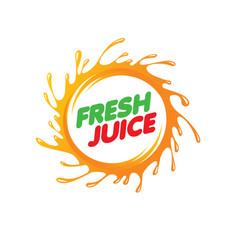 logo for fresh juice on white vector image