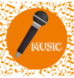 microphone concert musical icon vector image