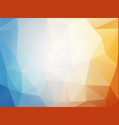 orange blue summer geometric mosaic background vector image