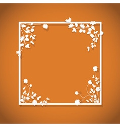 Orange floral box vector