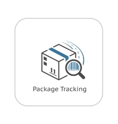 Package Tracking Icon Flat Design vector image