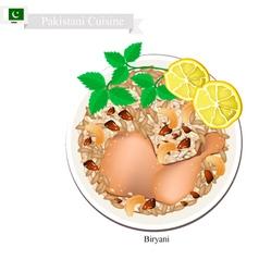 Pakistani Chicken Biryani vector image