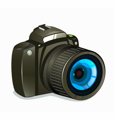 photo camera icon side view on white background vector image