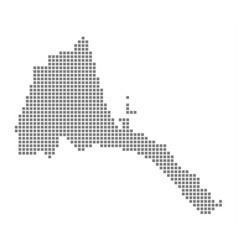 pixel map of eritrea dotted map of eritrea vector image