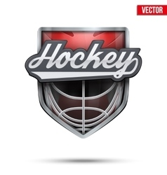 Premium symbol of Hockey Field label vector