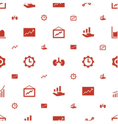 progress icons pattern seamless white background vector image