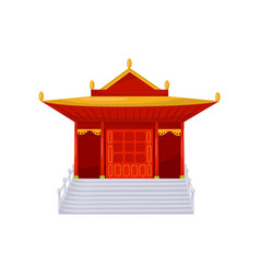red buddhist religious temple vector image