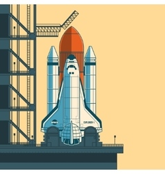 rocket is ready for launch vector image