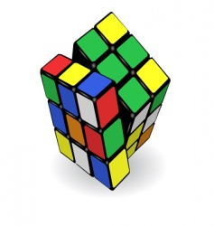 rubikaposs cube vector image vector image